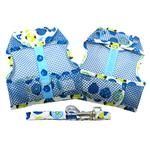 View Image 2 of Lady Bug Cool Mesh Dog Harness by Doggie Design - Blue