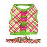 View Image 2 of Lady Bug Plaid Dog Harness by Doggie Design
