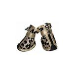 View Image 1 of Leopard Print Fashion Dog Boots - Gold