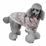 View Image 1 of Little Snow Dog Hoodie by Pinkaholic - Ivory
