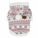 View Image 3 of Little Snow Dog Hoodie by Pinkaholic - Ivory