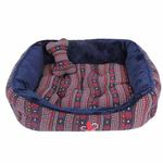 View Image 3 of Little Snow Dog Bed by Pinkaholic - Navy