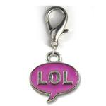 View Image 1 of LOL! Dog Collar Charm - Pink