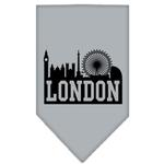 View Image 1 of London Skyline Dog Bandana - Gray