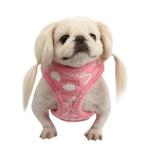 View Image 1 of Love Letter Dog Harness by Puppia - Pink