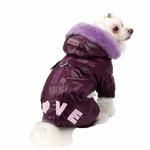 View Image 1 of Love Party Dog Jumpsuit by Pinkaholic - Purple