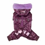 View Image 4 of Love Party Dog Jumpsuit by Pinkaholic - Purple