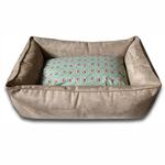 View Image 1 of Luca Lounge Dog Bed - Camel/Diamond Back