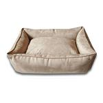 Luca Lounge Dog Bed - Camel/Suede
