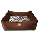 View Image 1 of Luca Lounge Dog Bed - Chocolate/Brown Zebra