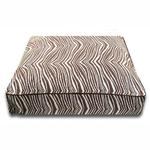 View Image 1 of Luca Luxe Rectangle Dog Bed - Brown Zebra