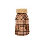 View Image 1 of Lumberjack Shearling Jacket - Camel & Brown