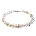 Luxe Pearl Dog Necklace - White