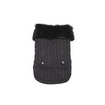 View Image 1 of Luxy Fur Dog Sweater by Dogo - Gray