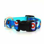 View Image 2 of WaLk-e-Woo Martini Dog Collar - Blue