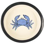 View Image 1 of Melia Crab Ceramic Pet Bowl - Light Blue