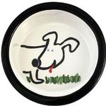 Melia Dog Front Ceramic Dog Bowl