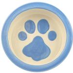 View Image 1 of Melia Paw Ceramic Pet Bowl - Light Blue