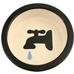 Melia Water Tap Ceramic Pet Bowl - Black