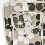 View Image 4 of Metro Slant Pocket Dog Tote - Neutral Floral