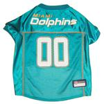 View Image 1 of Miami Dolphins Officially Licensed Dog Jersey - Aqua