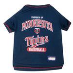Minnesota Twins Dog T-Shirt - Navy Blue