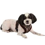 View Image 1 of Modern Zebra Dog Harness by Puppia - Brown