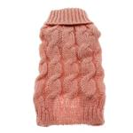 View Image 3 of Mohair Cable Knit Sweater - Pink Honeysuckle