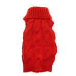 View Image 3 of Mohair Cable Knit Sweater - Red