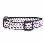 View Image 1 of Moustache Love Dog Collar - White