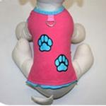 View Image 3 of Muscle Dog Shirt by Gooby - Pink