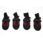 View Image 2 of Muttluks Woof Walkers Dog Boots - Burgundy