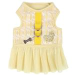 View Image 1 of Naava Flirt Harness Dress by Pinkaholic - Yellow