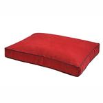 View Image 1 of NanoSuede Dog Bed by Dog Gone Smart - Red