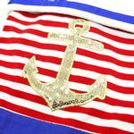 View Image 5 of Nautical Stripe Dog Dress by Dogo
