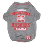 Nebraska Cornhuskers Athletics Dog T-Shirt - Gray