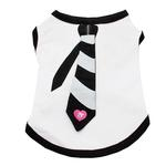 View Image 1 of Necktie Dog Tank Top by Dogo - Black
