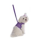View Image 1 of Netted Harness with Leash - Purple