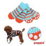 Nitty-Gritty Dog Socks by Puppia - Aqua