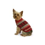 View Image 1 of Nordic Fair Isle Knit Sweater by NY Dog - Red