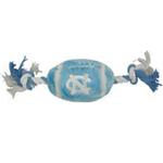 View Image 1 of North Carolina Tarheels Plush Football Dog Toy