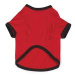 View Image 2 of Nothing Under This Dog T-Shirt - Red