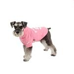 View Image 3 of Number 5 Dog Hoodie by Puppia - Pink