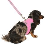 View Image 1 of Nylon-Fleece Dog Vest Harness - Hot Pink