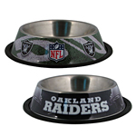 View Image 1 of Oakland Raiders Dog Bowl