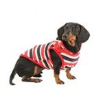 View Image 3 of Ocean Mist Dog Hoodie by Puppia - Red