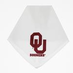 Oklahoma Sooners Dog Bandana - White