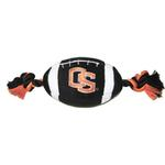 Oregon State Beavers Plush Football Dog Toy