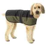 View Image 1 of Outback Dog Coat - Black with Olive