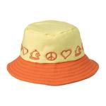 View Image 1 of Peace Bucket Hat by Doggles - Yellow/Orange